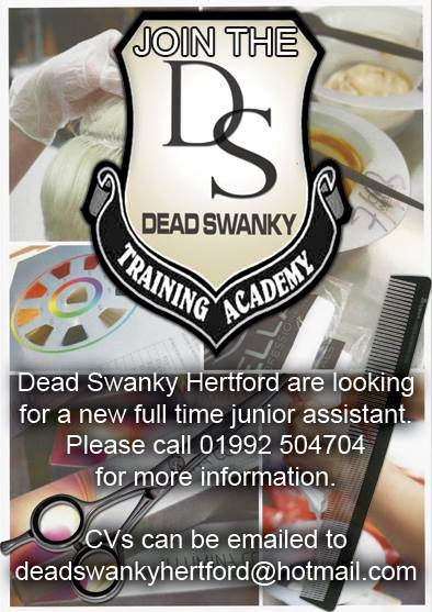 FULL TIME JUNIOR/TRAINEE HAIRDRESSER REQUIRED